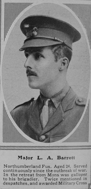 UK Photo Archive: B &emdash; Barrett L A Major 1st Northumberland Fusiliers The Sphere 29th Apr 1916