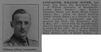 Lancaster W O 2nd Lt 21st Manchester Regiment Obit De Ruvignys Roll Of Honour Vol 3