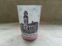 Victorian Pink Lustre Souvenir Ware Beaker/Vase Chatham Town Hall
