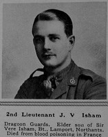 Isham J V 2nd Lt 5th Dragoon Guards (Princess Charlotte of Wales's) The Sphere 23rd Sep 1916