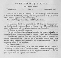 Bovill J E 2nd Lt 6th Dragoon Guards Obit Harrow Roll Of Honour Vol 3
