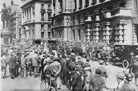 On 4th Aug 1914 Crowds Gathered Waiting For News Of War
