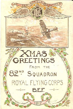 82nd Squadron Christmas Card 1917