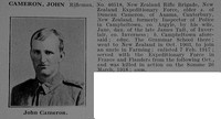 Cameron J Rfn 46518 New Zealand Rifle Brigade Obit De Ruvignys Roll Of Honour Vol 5