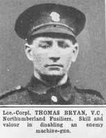 Bryan T LCpl VC Northumberland Fusiliers