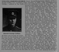 Collins H G Lt Royal Flying Corps Obit Part 1 De Ruvignys Roll Of Honour Vol 4