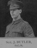 Butler J Sergt DCM 6th London Regiment Cast Iron Sixth - Captain E G Godfrey 1938