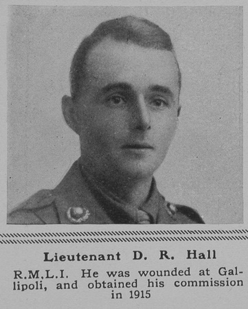UK Photo Archive: H &emdash; Hall D R Lt RMLI The Sphere 18th May 1918