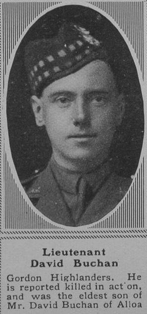 UK Photo Archive: B &emdash; Buchan D Lt 1st Gordon Highlanders The Sphere 19th Oct 1918