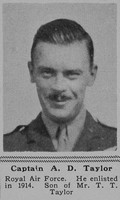 Taylor A D Captain RFC The Sphere 19th Oct 1918