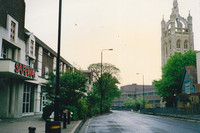 Cheam Road And Safeway Sutton 1997
