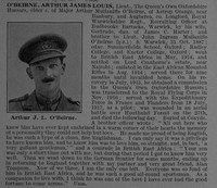 OBeirne A J L Lt Queen's Own Oxfordshire Hussars Attd Royal Flying Corps Obit De Ruvignys Roll Of Honour Vol 4