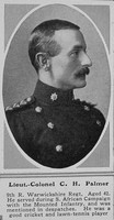 Palmer C H Lt Col 9th R Warwicks Regt The Sphere 11th Mar 1916