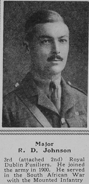 UK Photo Archive: J &emdash; Johnson R D Major 2nd Royal Dublin Fusiliers The Sphere 3rd Jul 1915