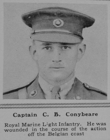 UK Photo Archive: C &emdash; Conybeare C B Captain RMLI The Sphere 11th May 1918