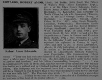 Edwards R A Lt 1st West Yorkshire Regiment Obit De Ruvignys Roll Of Honour Vol 5