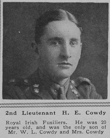 UK Photo Archive: C &emdash; Cowdy H E 2nd Lt R Irish Fusiliers The Sphere 6th Oct 1917