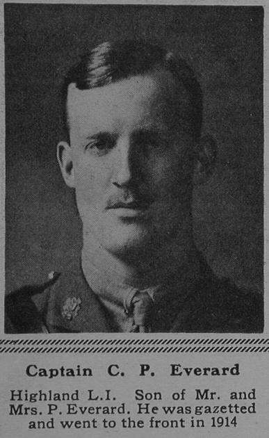 UK Photo Archive: E &emdash; Everard C P Captain 3rd Highland Light Infantry The Sphere 3rd Mar 1917