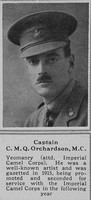 Orchardson C M Q Captain MC Middlesex Hussars The Sphere 7th July 1917