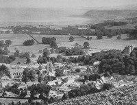 Dunster From Grabbist Hll 1920s