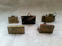 Five Vintage Brass Drawer And Cabinet Locks With Keys