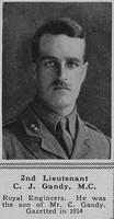 Gandy C J 2nd Lt RE The Sphere 15th Sep 1917