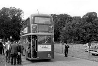 Alighting Buses At At Epsom Downs Derby Day 1960s