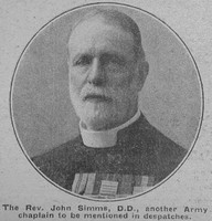 Simms J Rev Army Chaplain The War Illustrated 24th Apr 1917