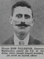 Tollerton R Pte VC Cameron Highlanders The War Illustrated 8th May 1915