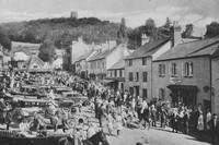 The Meet Of The Devon And Somerset Staghounds At Dunster 1920s