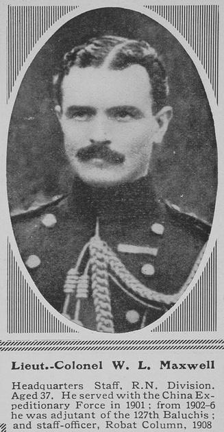 UK Photo Archive: M &emdash; Maxwell W L Lt Col HQ Staff RN Div RMLI The Sphere 10th Jul 1915