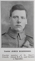 Boardman J Gnr Royal Field Artillery Hyde In War Time - Randal Sidebotham July 1916