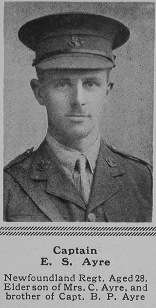 UK Photo Archive: A &emdash; Ayre E S Captain 1st Newfoundland Regiment The Sphere 26th Aug 1916