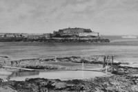 The Bathing Pools And Castle Corner St Peter Port Guernsey 1920s