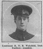 Wakefield R O B Lt Royal Irish Fusiliers The Graphic 16th Sep 1914