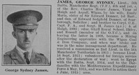 James G S Lt 5th Manchester Regiment Obit