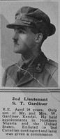 Gardiner S T 2nd Lt Royal Engineers The Sphere 23rd Sep 1916