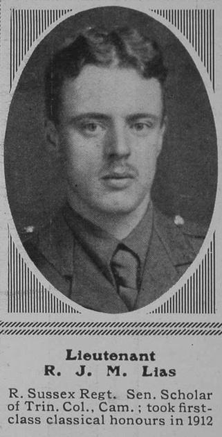 UK Photo Archive: L &emdash; Lias R J M Lt 9th R Sussex Regt The Sphere 29th Apr 1916