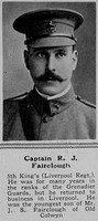 Fairclough R J Captain 5th Kings Liverpool Regiment The Sphere 21st Aug 1915