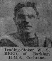 Reed W S Leading Stoker HMS Cochrane Royal Navy The Vivid 27th Mar 1915