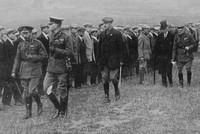 King George On Epsom Downs Inspecting The Public Schools Brigade
