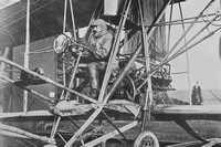 Colonel Cody In His Flying Machine