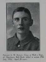 Bailey A W Pte 10th West Riding Regt Craven Roll Of Honour