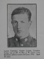 Lister A LCpl 7th CEF Craven Roll Of Honour