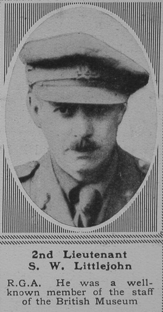 UK Photo Archive: L &emdash; Littlejohn S W 2nd Lt RGA The Sphere 22nd June 1918