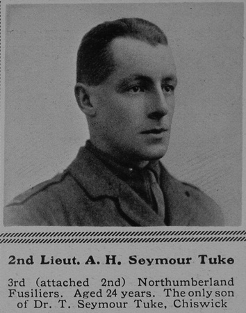 UK Photo Archive: S &emdash; Seymour-Tuke A H 2nd Lt 2nd Northumberland Fusiliers The Sphere 21st Aug 1915