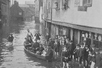 A Norwich Street Scene After The Floods Of 1912