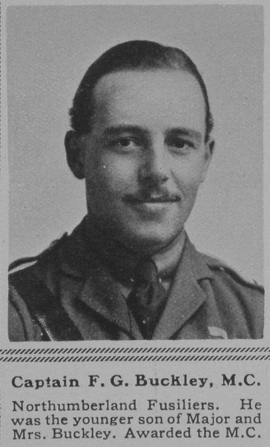 UK Photo Archive: B &emdash; Buckley F G Captain MC Northumberland Fusiliers The Sphere 10th Nov 1917