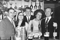 The George And Dragon Pub Holmes Chapel Cheshire 1970 Bar Staff