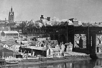 Newcastle From The Heights Of Gateshead 1940s